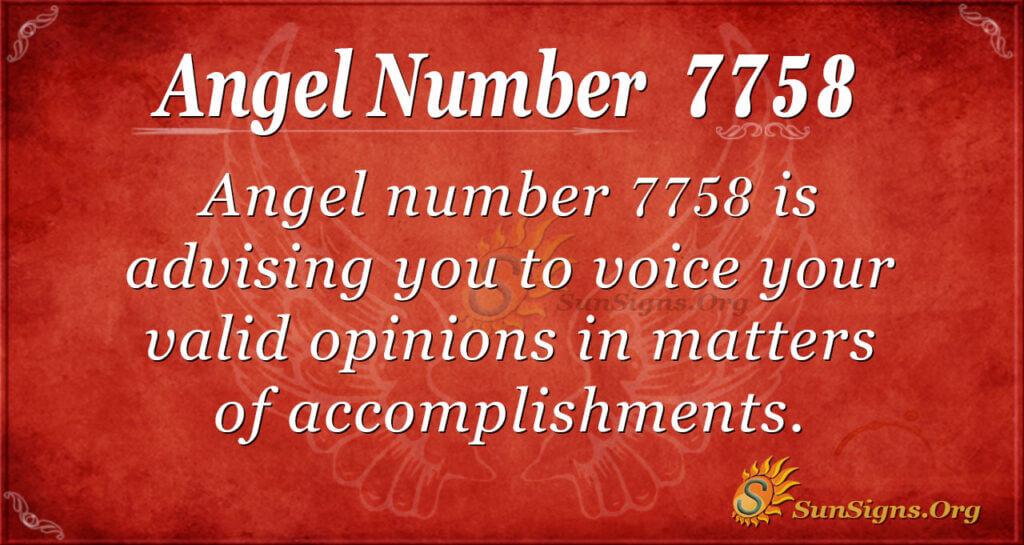 7758 angel number