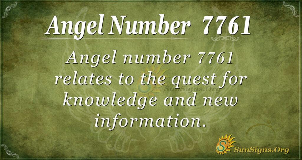 7761 angel number