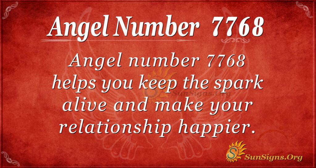 7768 angel number