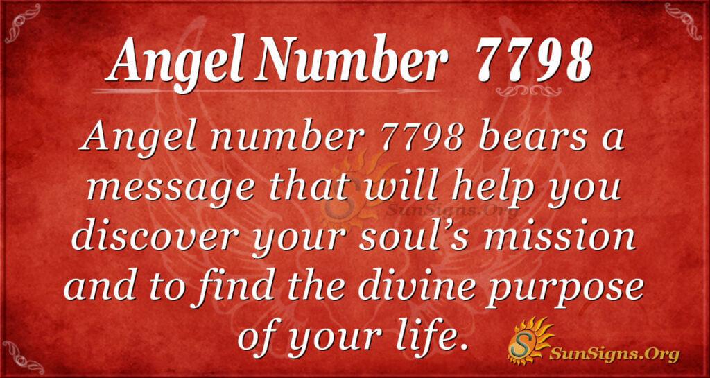 7798 angel number