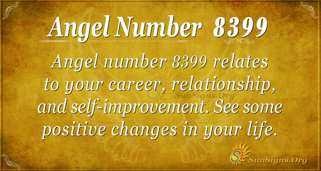Angel number 8399