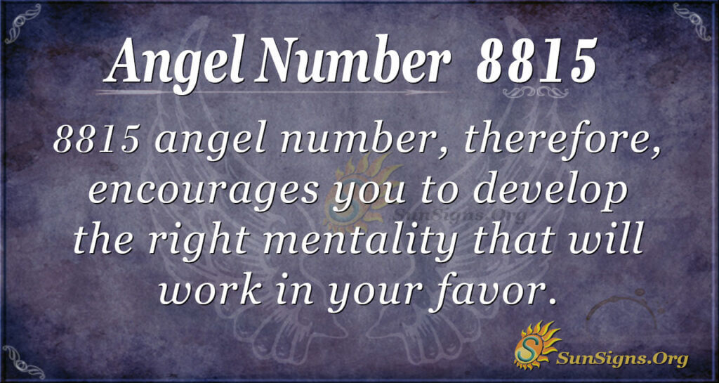 8815 angel number
