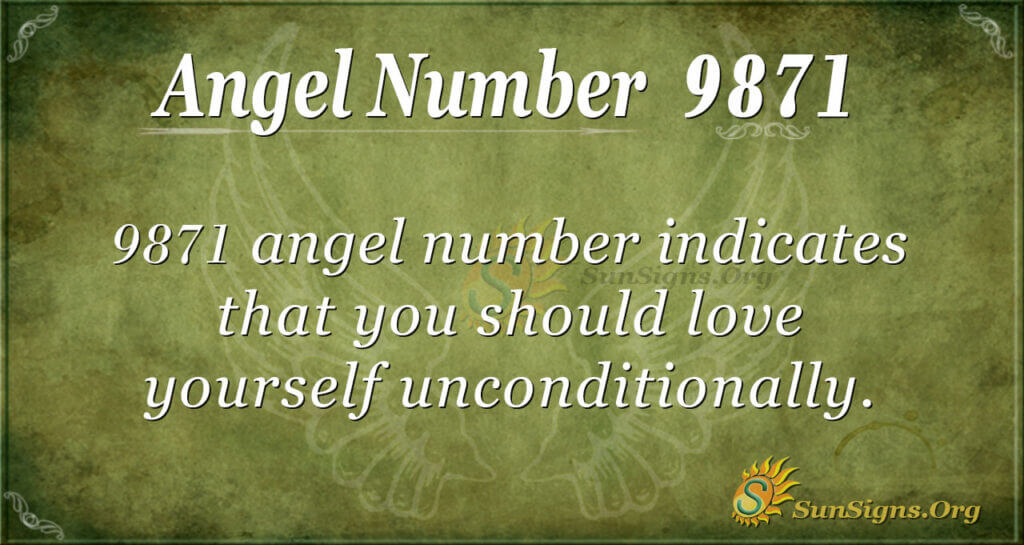 9871 angel number
