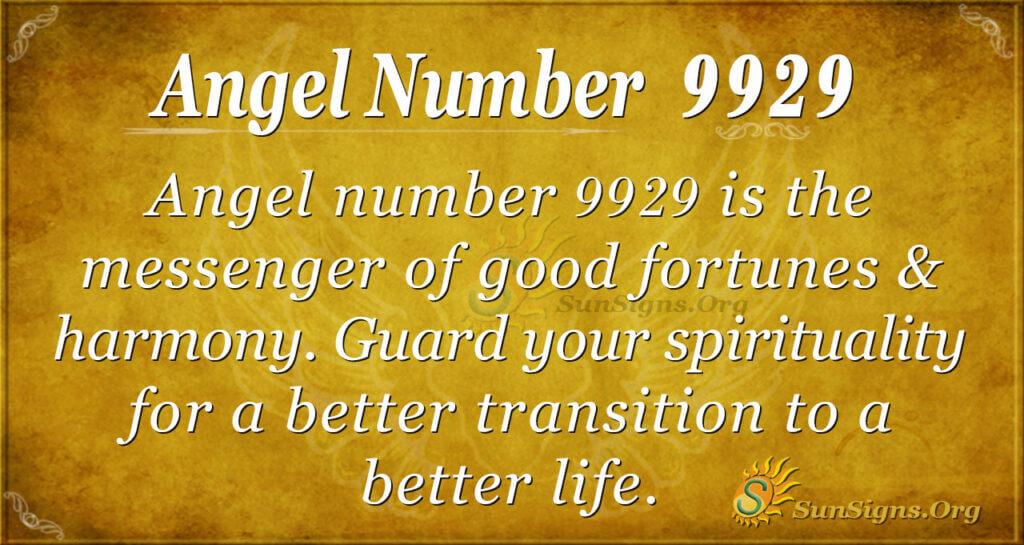 Angel number 9929
