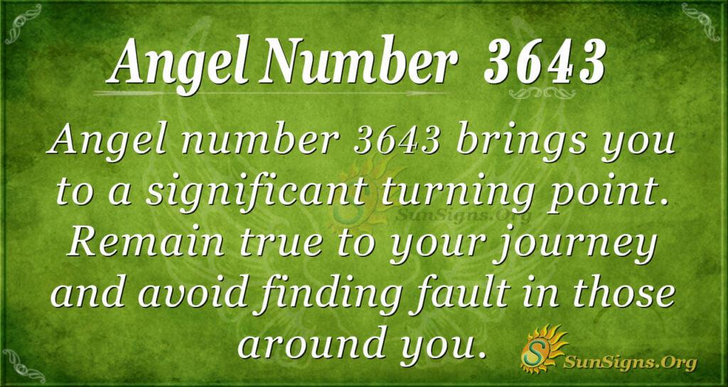 3643 angel number