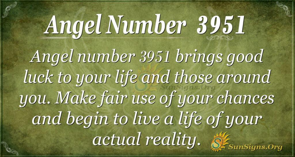 Angel Number 3951