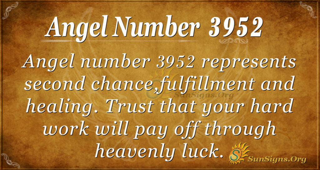 3952 angel number