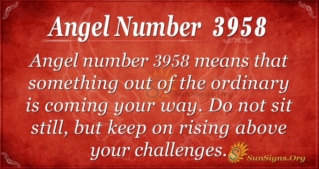 3958 angel number