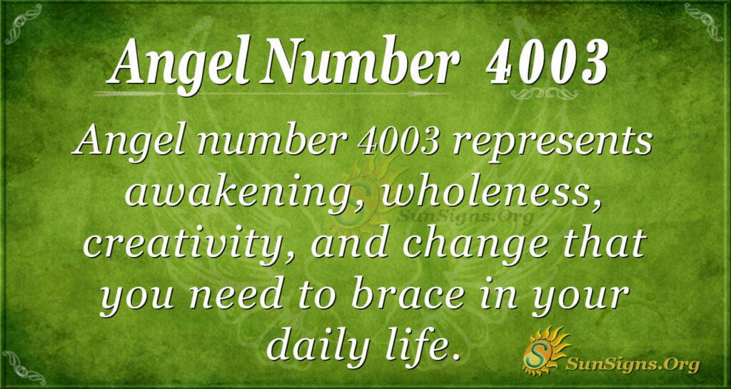 4003 angel number