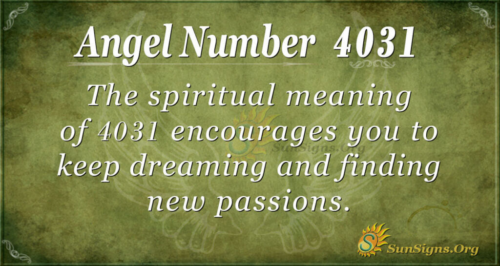 4031 angel number