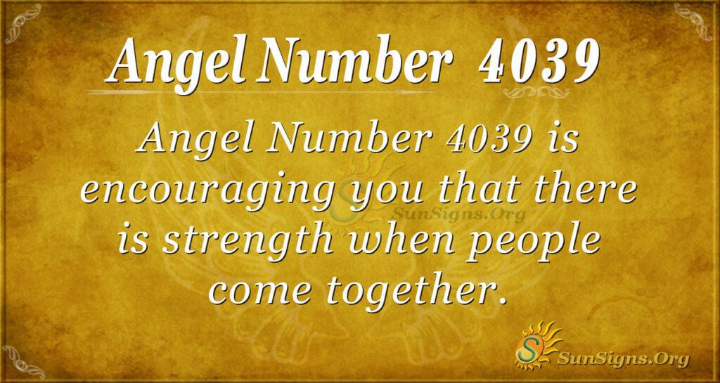 4039 angel number