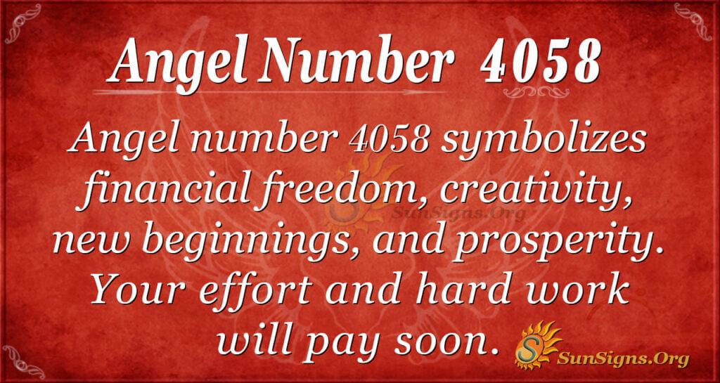 4058 angel number