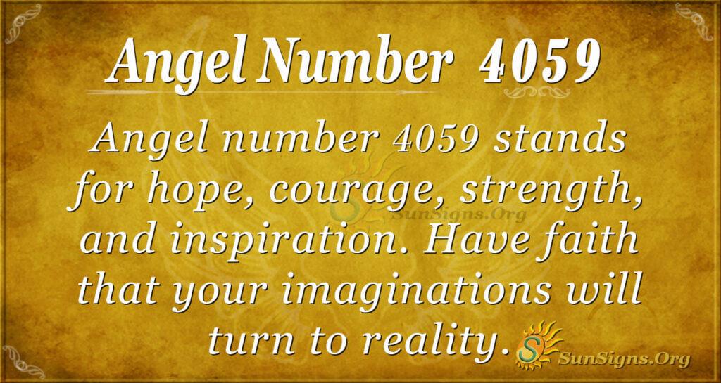 4059 angel number