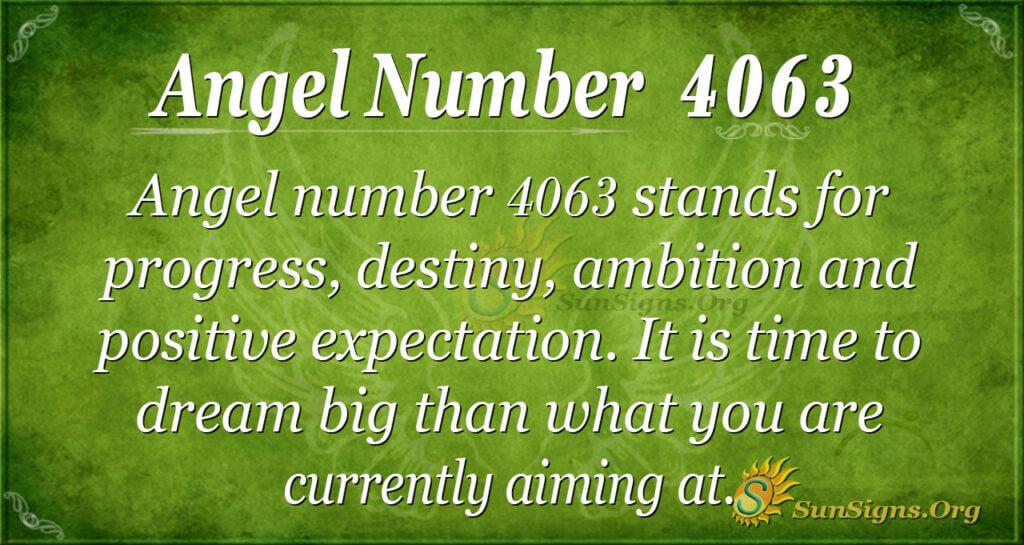 Angel number 4063