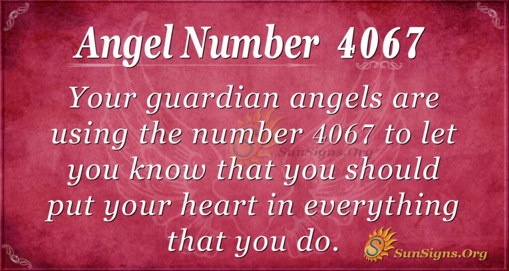 4067 angel number