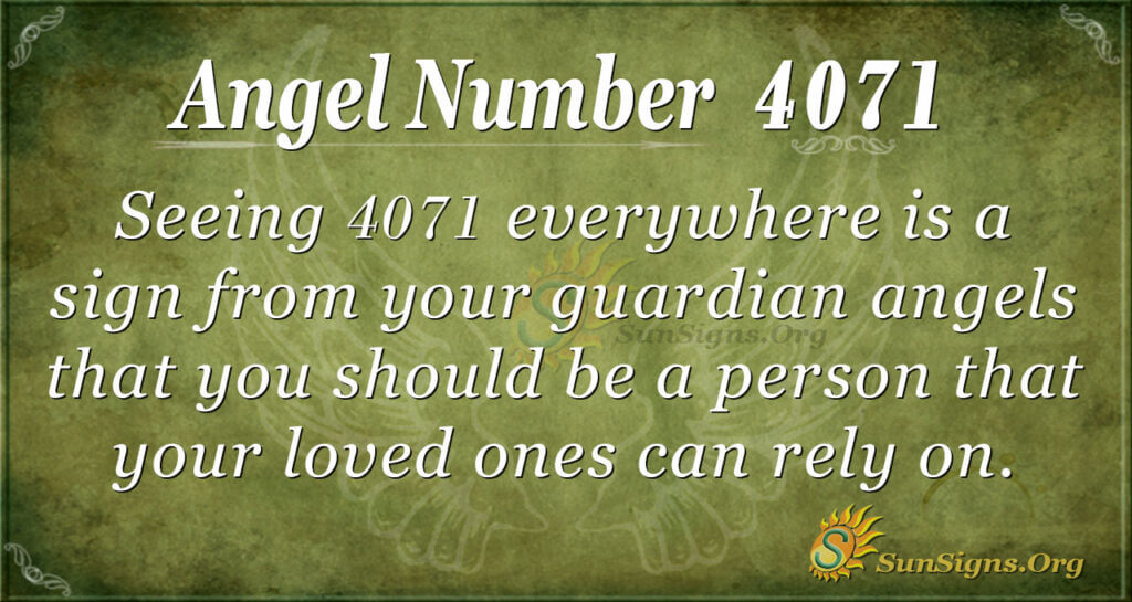 4071 angel number