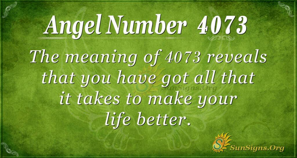 4073 angel number