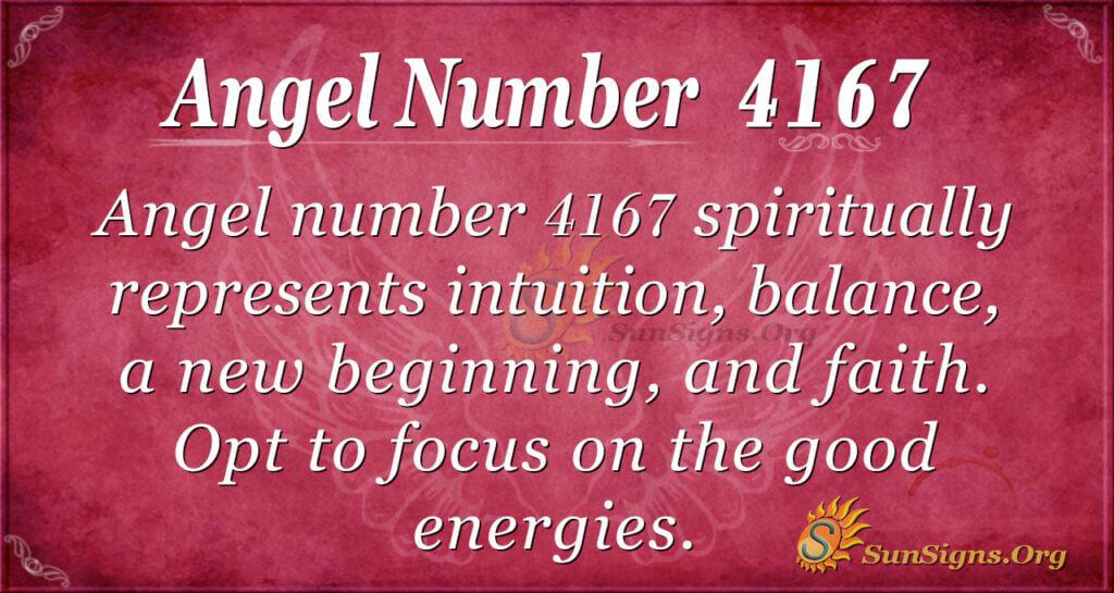 Angel number 4167