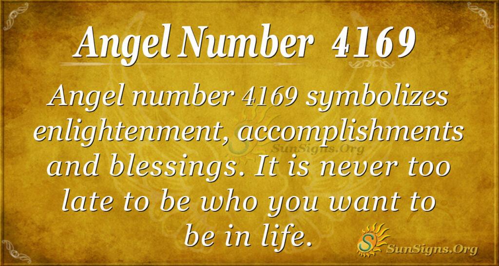 Angel number 4169