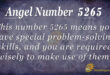 5265 angel number
