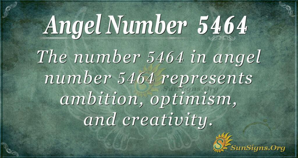 5464 angel number