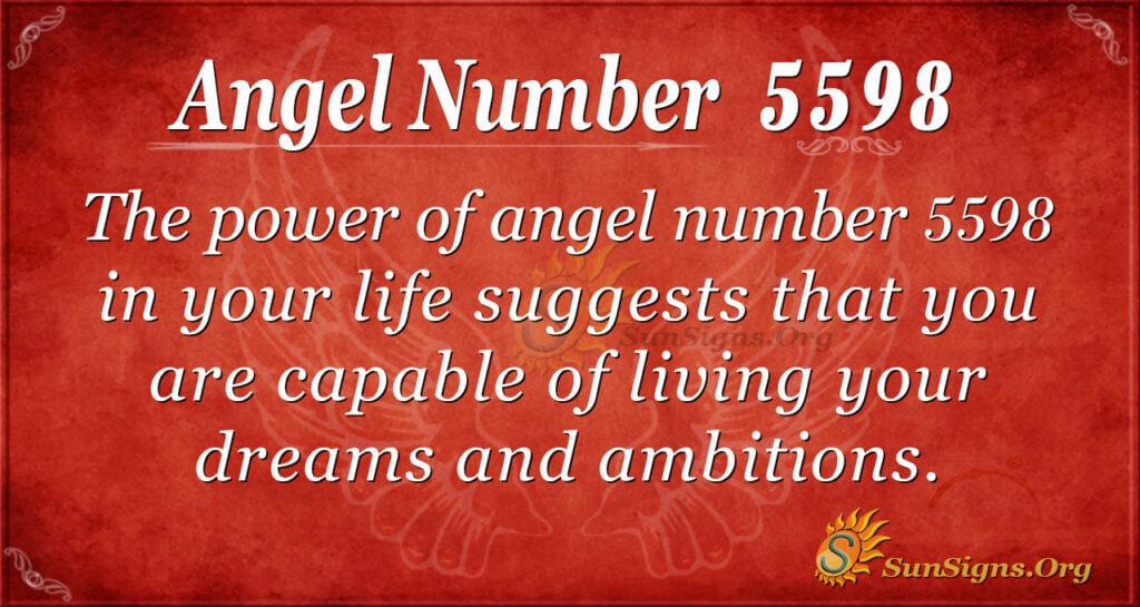 5598 angel number