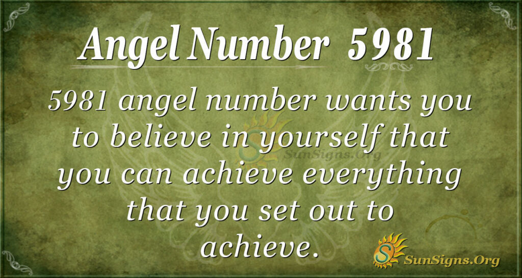 5981 angel number
