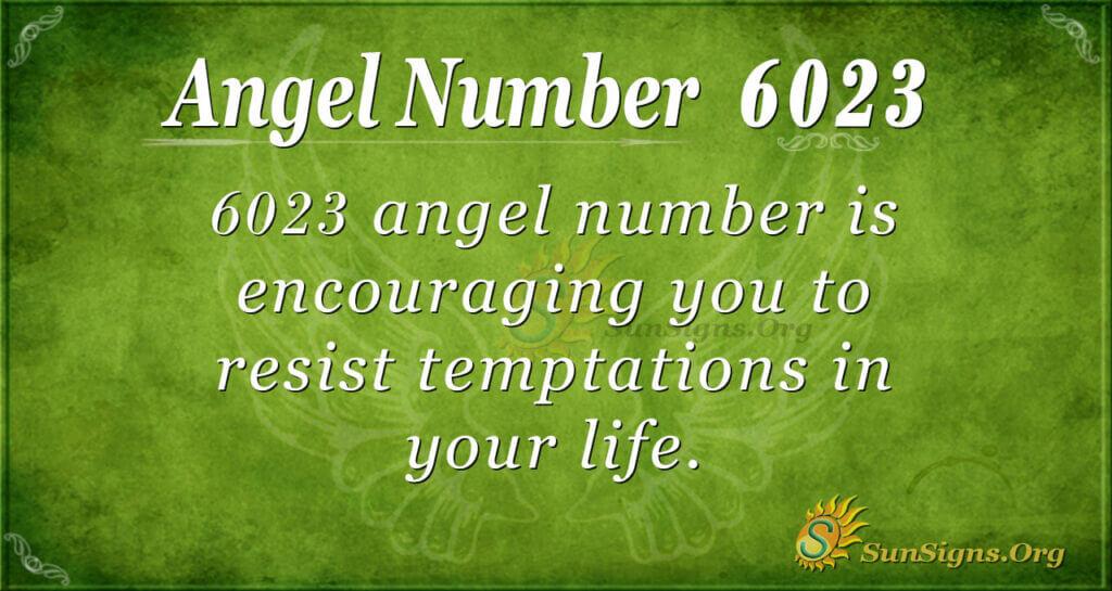 6023 angel number