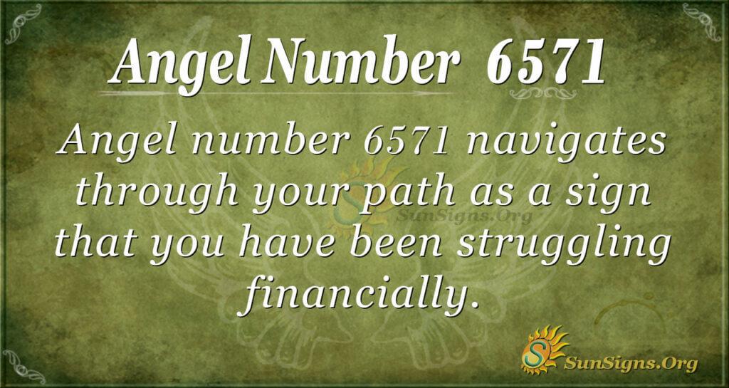 6571 angel number