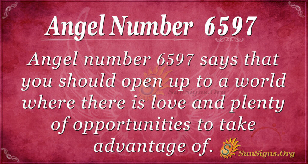6597 angel number