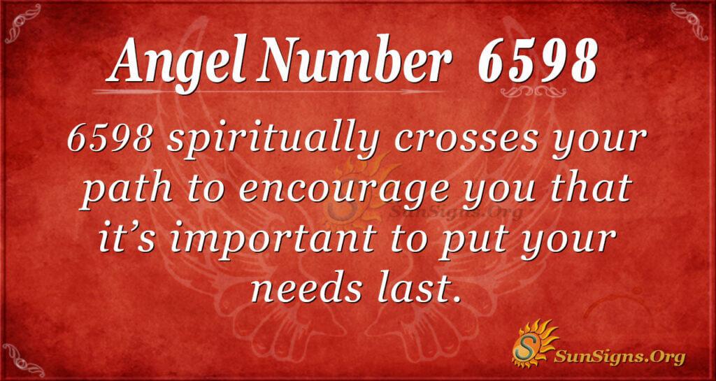 6598 angel number