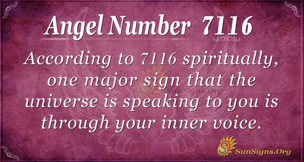 7116 angel number