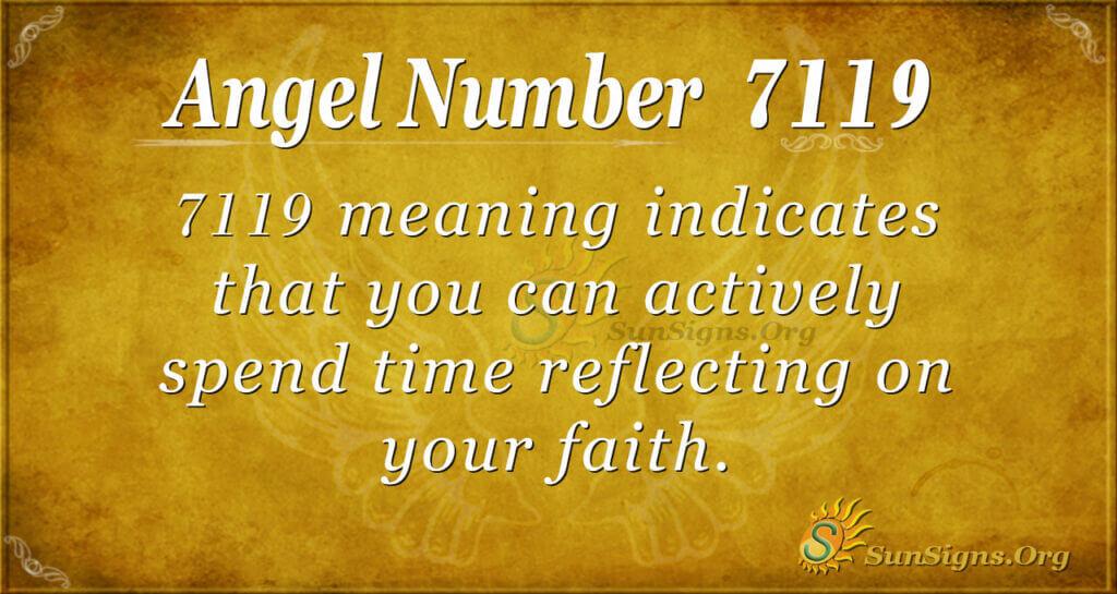 7119 angel number