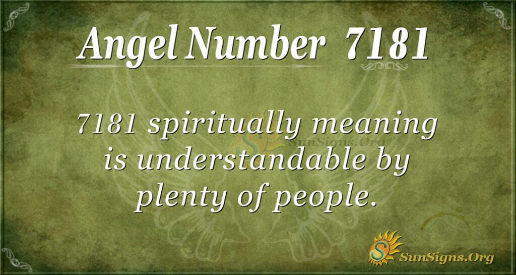 7181 angel number