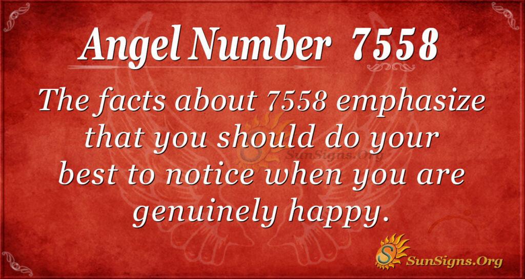 angel number 7558
