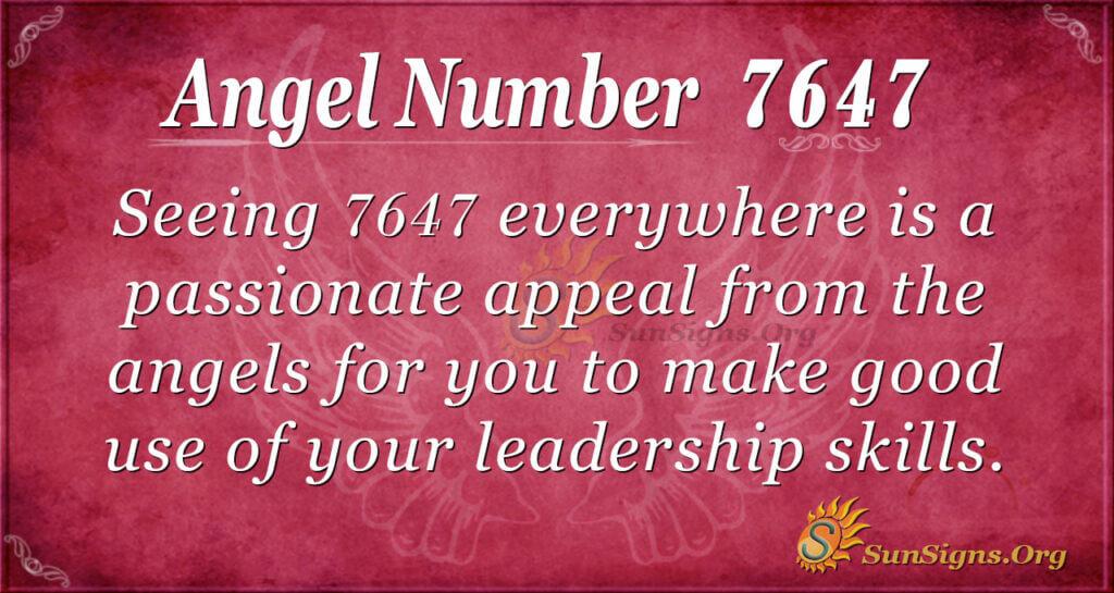 7647 angel number