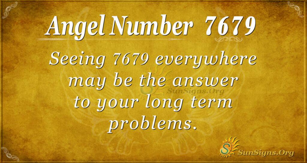 7679 angel number