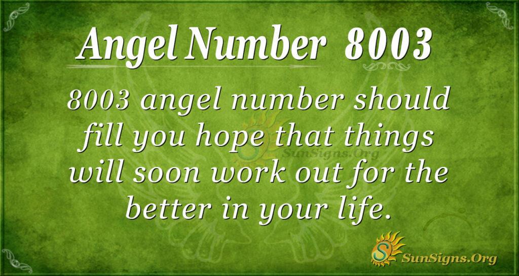 8003 angel number