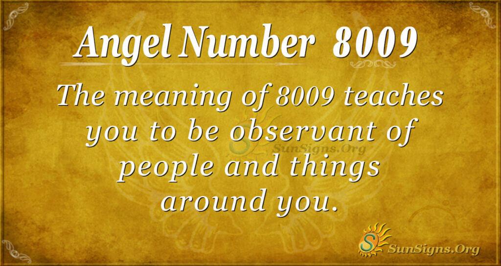 8009 angel number