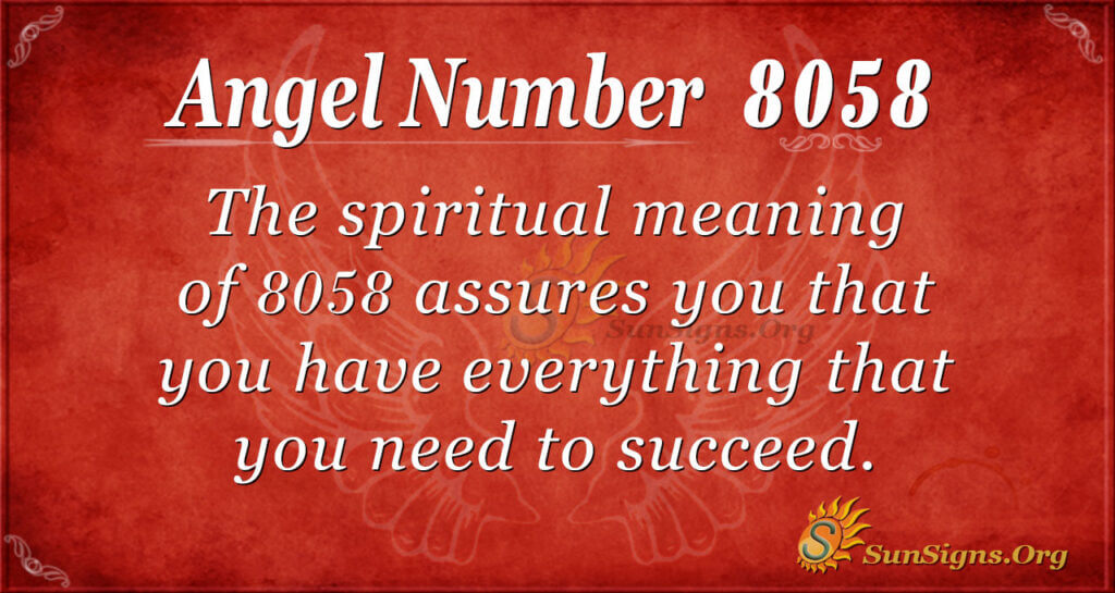 8058 angel number
