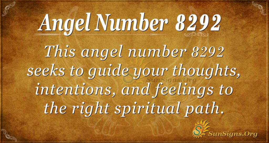 Angel Number 8292
