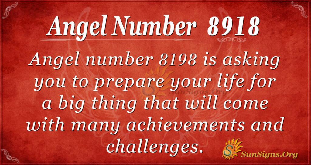 Angel Number 8918