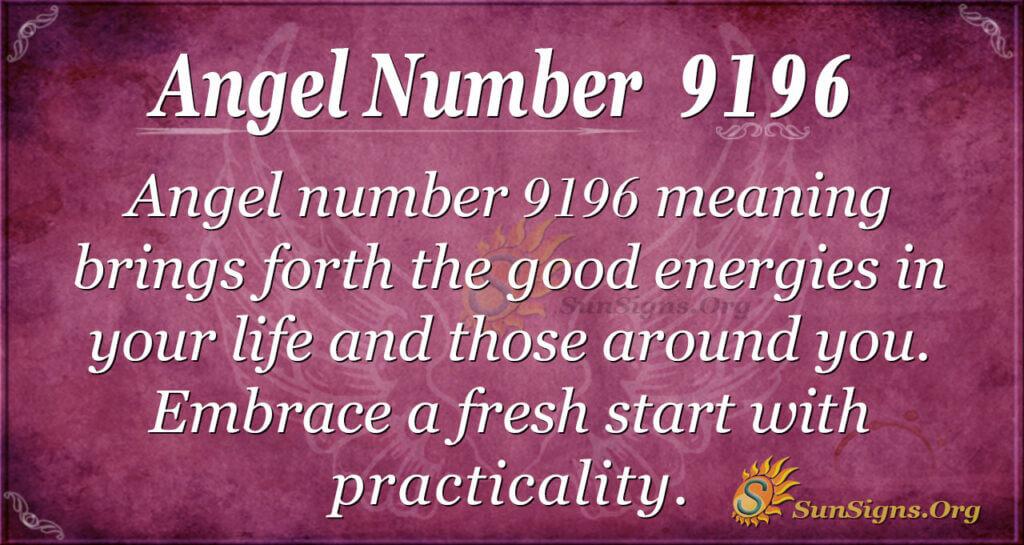 Angel Number 9196