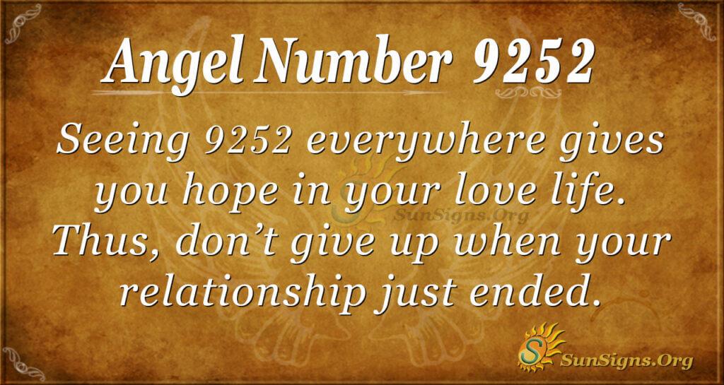 9252 angel number