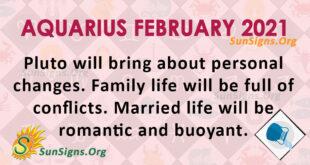 Aquarius February 2021