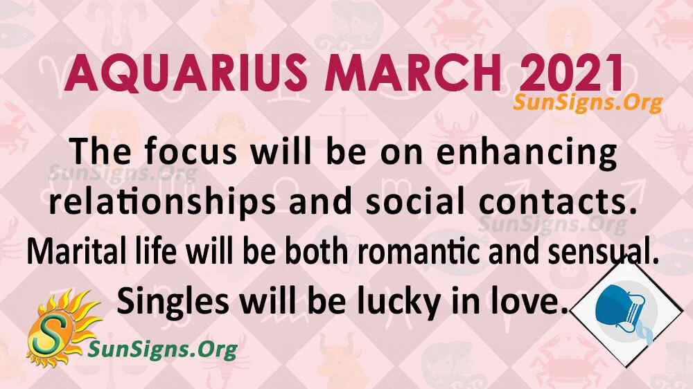 Aquarius March 2021