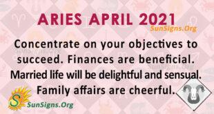 Aries April 2021