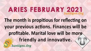 Aries February 2021