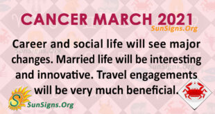 Cancer March 2021