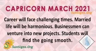 Capricorn March 2021